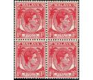 1945 8c Scarlet. 'Unissued'. U/M mint block of 4...