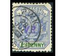 SG4. 1900 2 1/2d Blue and green. Superb fine used...