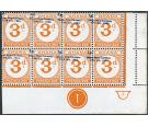 SG D21 Variety. 1965 3p on 3d Orange. ERROR: (Value Only) Omitte