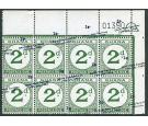 SG D20 Variety. 1965 2p on 2d Green. 'Value Omitted'. U/M mint..