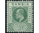 SG45a. 1902 1/2d Green. 'Dented Frame'. Very fine fresh mint...
