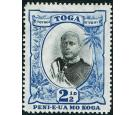 SG43a. 1897 2 1/2d Black and blue. No fraction bar in '1/2'...