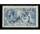 SG417. 1919 10/- Dull grey-blue. Superb fresh mint...