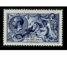 SG402. 1913 10/- Indigo. Brilliant fresh well centred mint...
