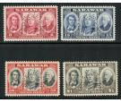SG146s-149s. 1946 Set of 4. 'SPECIMEN'. U/M mint...