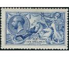 SG412. 1915 10/- Blue. Superb fresh mint...