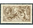 SG406. 1915 2/6 Yellow-brown. Superb well centred mint...