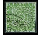 SG5. 1851 6d Yellow-green. Superb used with beautiful colour...