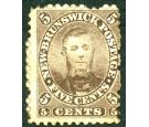 SG13. 1860 5c Brown. 'Charles Connell'. Superb mint...