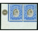 SG67. 1903 £10 Grey and blue. Brilliant fresh U/M mint pair...