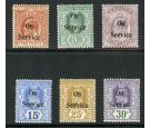 SGO22-O27. 1903 'SERVICE'. Set of 6. Choice brilliant fresh mint
